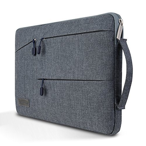 Notebook Tasche Business Laptop Hülle - Yarrashop 13 Zoll Notebook Sleeve Bag einfachen Stil Wasserabweisendes Nylongewebe Notebook Sleeve für MacBook Air 13,3 /MacBook Pro Retina 13,3/ Dell XPS Grau
