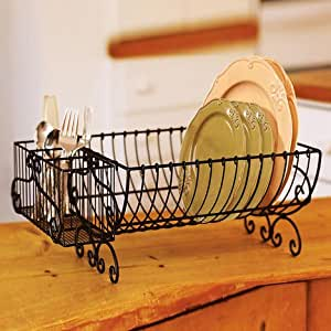 Asian arts Plates Dish Stand Plate Rack IronBlack