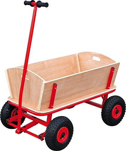 """small foot 9912 Bollerwagen \""""Maxi\"""" aus Holz und Metall, mit Gummibereifung"""