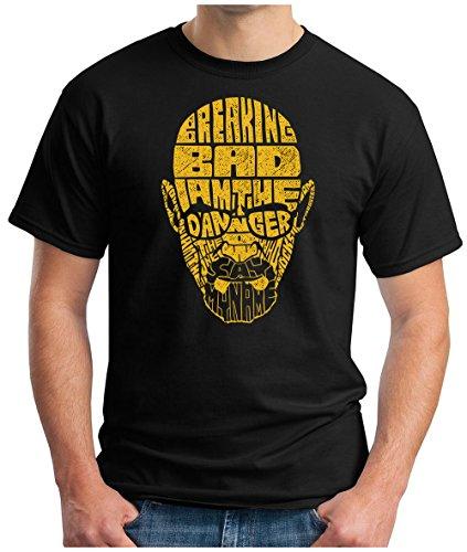 OM3 - BREAKING-DANGER - T-Shirt BAD HEISENBERG CRYSTAL METH COOK WEED CRIME MOVIE GRU GEEK, S - 5XL Schwarz