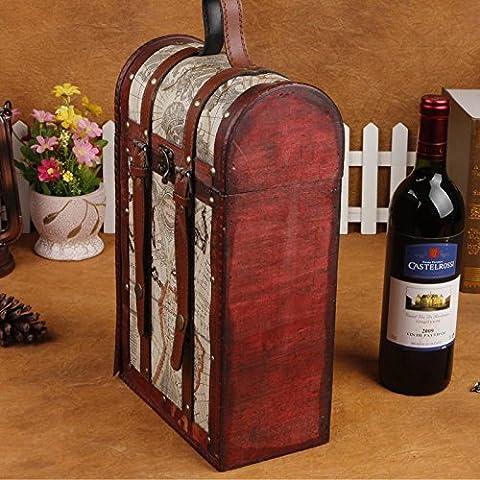 GG Vintage Vino Package. doppio vino box. antico box. moda confezione regalo