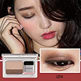 LEEDY Ombre à PaupièRes Poudre Arc-En-Ciel Chatoyant Maquillage Beauté Ombre Fards à PaupièRes 2 Couleurs
