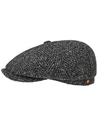Stetson Hatteras Herringbone Coppola berretti piatti cappello beanie da uomo b38a94ce4833