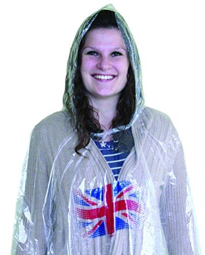 Fancy Royal Kostüm Prince Dress - Amscan International 994906Großbritannien Erwachsene Kunststoff Poncho-passend für die meisten GB Dekorationen, rot, weiß und blau, One size
