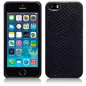 Terrapin PU Leather Back Case for Apple iPhone SE / 5s / 5 - Black Snakeskin