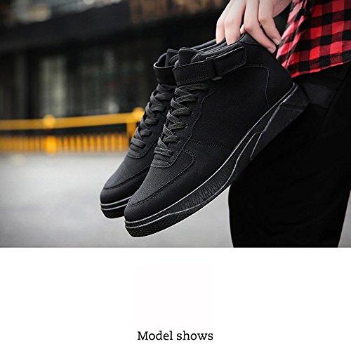 XIAOLIN- Chaussures De Marée Société Esprit Guy Chaussures Pour Hommes Chaussures Rouges ( Couleur : Noir , taille : EU/41/UK7.5-8/CN42 ) Noir