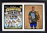 NBA Golden State Warriors 122-77 California 2015 Champions Double Photo MVP Plaque, Black