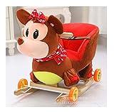 Tickles Plush Baby Rocking Chair Swing Seat Kids Ride On Rocking Cradle Toy 50 Cm