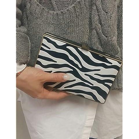 Da Wu Jia Ladies borsetta di alta qualità di lusso donne zebra metallo frizione della scatola di Borse Borse da Sera in borsa , il colore dello schermo