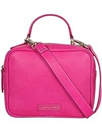 PINK GRAINED CROSSBODY BAG