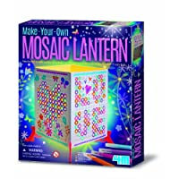 Mosaic Lantern - Boys Girls Children Kids - Make Your Own Art Set - Latest Birthday Gift Present Fun Games & Toys Idea Age 5+