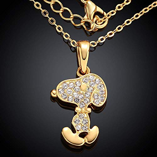 WEILIVE Prinzessin Halskette Halsketten in Europa und Amerika (Farbe: Weißgold) Schmuck Geschenk (Farbe : Gold)