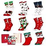 AimTop Weihnachtssocken, Weihnachten Socken Festlicher Baumwolle Socken Super Warm Socken für Geschenk, Unisex Kuschelsocken Lustige Socken Bunt Christmas Socks mit Exquisite Geschenkbox