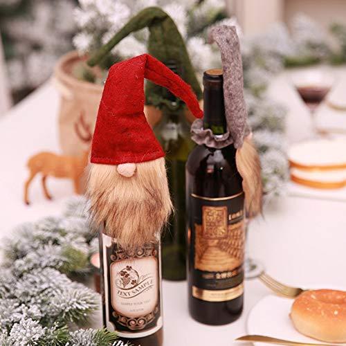 Schnurrbart Hut - Innovative weihnachtsmütze schnurrbart weinflasche hut flasche