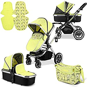 """iVogue - Pear Luxury 2in1 Pram Stroller Travel System by iSafe (2017-2018) Mountain Buggy Ultra compact size at just 54cm/22"""" wide and with a compact fold down size of 54cm/22"""" (w) x 30cm/12"""" (d) x 51.5cm/20"""" (h): nano fits inside its own custom made satchel and is now: even more airline ready. Ultra Leight weighing in at 5.9kg / 13lbs: nano meets the standard weight restriction for carry on luggage on planes Full Lie Flat Solution for newborn - adaptability with the use of the soft shell cocoon carrycot (an additional accessory) 4"""