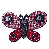 TrickyBoo 2 Aufbügler Schmetterling 10X7cm Feuerwehr 6X8cm Set Aufnäher Flicken Applikationen zum Ausbessern von Kinder Kleidung mit Design Zürich Schweiz für Deutschland und Österreich