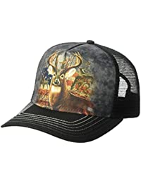The Mountain Unisex-Adults Patriotic Buck Trucker Hat, Black, One Size fits All