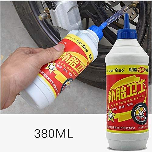 Rubyu 380 ml Sigillante per Pneumatici Liquido con Microfibre e leganti per Moto, Mountain Bike, tensioni, prevenzione e Riparazione