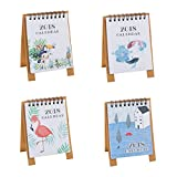 VORCOOL 4pcs 2018 Cartoon Desk Calendars Cute Animal Desktop Calendar Year Book