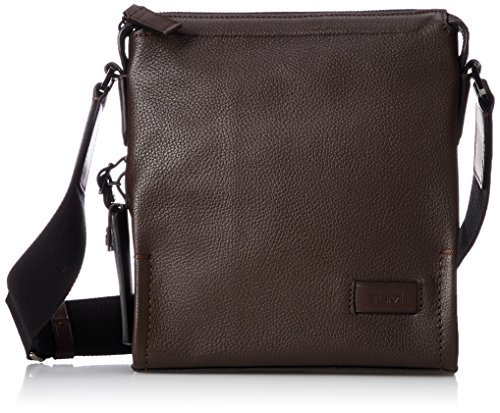 Tumi Harrison - Scott Crossbody Bolso Bandolera, 23 cm, 3 Liters, Marrón (Brown Pebbled)