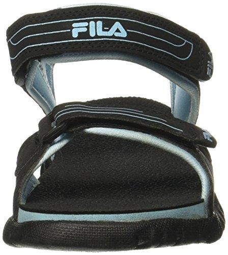 e81eca194 ... Fila Women s Fron Black and Blue Fashion Sandals - 4 UK India (38 EU ...