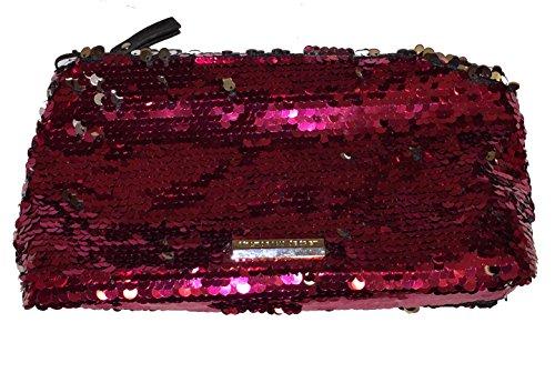 Preisvergleich Produktbild Victoria 's Secret Pink Pailletten Kosmetiktasche Clutch Abend Tasche Wristlet Geldbörse...
