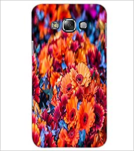 PrintDhaba Flowers D-2151 Back Case Cover for SAMSUNG GALAXY E7 (Multi-Coloured)