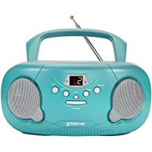 Groov-e Portable CD Player Boombox with AM