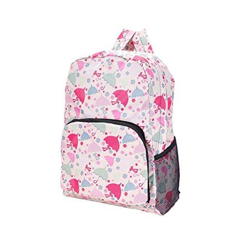 Eco Chic–Borsa zaino per donna rosa rosa fiore rosa Beige umbrella