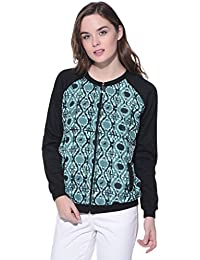 Purys Green Printed Combination Jacket