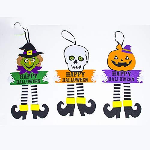 OOFAY Halloween Spinnennetz Tür Anhänger Geist Festival Liefert Dekoration Halloween Dekoration Veranda Anhänger Geist Festival Liefert 3 Stücke