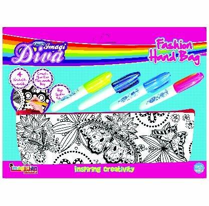 Craftival Diva Color Me Purse with Sketch Pen