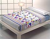 Quilt & CO Kayla - Juego de funda nórdica para cama de 105 cm, 180 x 220 cm, color azul