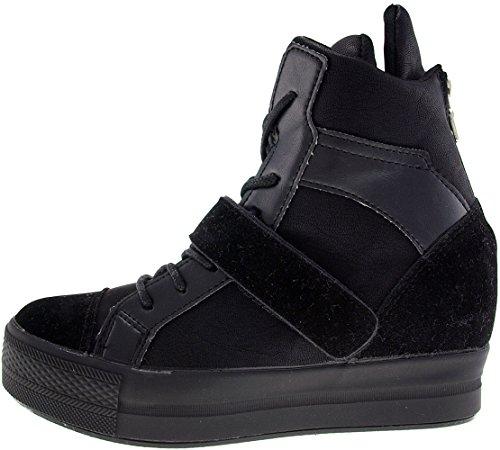 Altas Sapatilhas 1 fitas preta Para Altas Velcro Maxstar C2 Superiores C2 xX6Igg