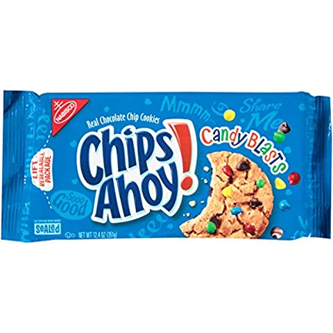 Nabisco Chips Ahoy! Chocolate Chip Candy Blasts Cookies, 12.4 Ounce by Nabisco