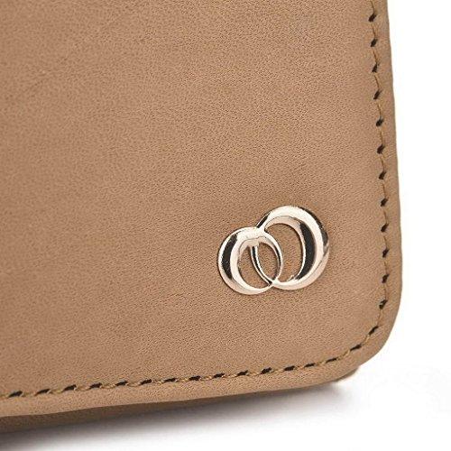 Kroo Pochette en cuir véritable pour téléphone portable pour Xolo Omega 5,5 Violet - violet Marron - marron