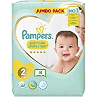 Pampers Premium Protection Größe 2, Windel x68, 4kg-8kg