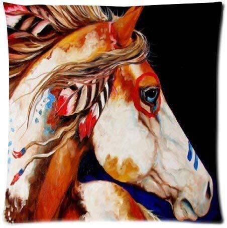 Jxrodekz Geist indischen Krieg Pferd das Geschenk weichen Platz reißverschluss Kissen werfen Fall Kissenbezug 18x18 Zoll