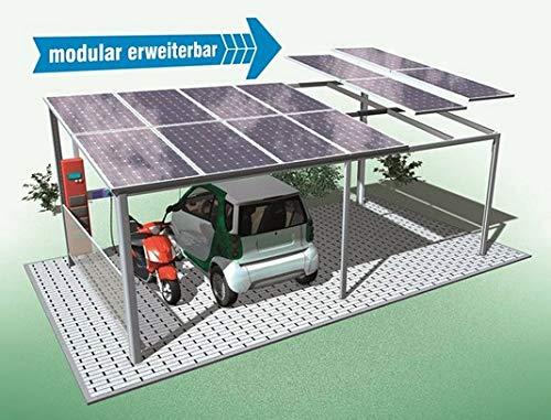 Solar Carport, Komplett-Anlage Solar-Energie -Port für Auto, Motorrad, eBike. In jeder Größe herstellbar