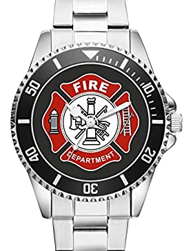Kiesenberg Feuerwehr Geschenk Geschenkartikel Geschenkidee Armbanduhr für Männer Uhr 1162