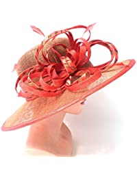 Damenhut Anlasshut elegant in Goldbeige/Orangefarbig