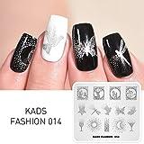 KADS Maniküre Stempelschablonen Nail Art Plates Stamping Nagel Bildstempel Schablone Metallplatten Nagel Tattoo (FASHION 014)