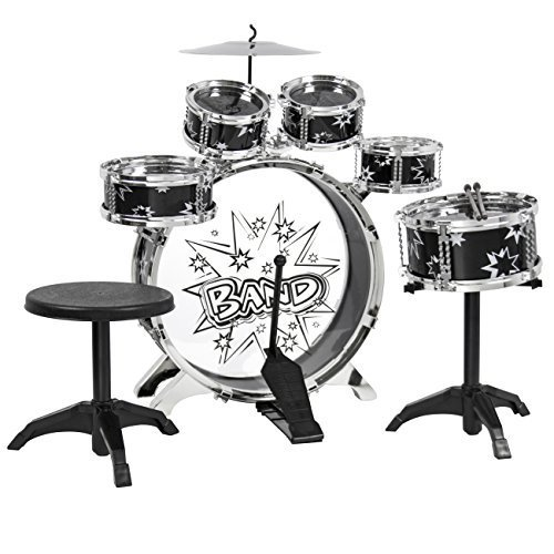 best-choice-products-kids-drum-set-kids-toy-with-cymbals-stands-throne-black-silver-boys-toy-drum-ki