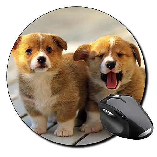 Corgi Gales De Pembroke Welsh Corgi Pembroke C Tappetino Per Mouse Tondo Round Mousepad PC