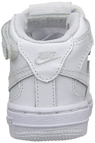 Nike Air Force Mid, Jungen Hohe Sneakers Weiß (White/White WhiteWhite/White White)
