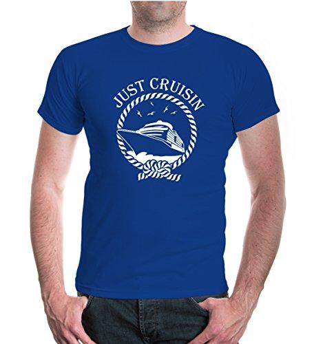 buXsbaum® T-Shirt Just Cruisin Royal-White