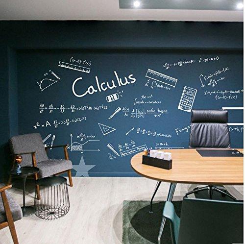 HCCY High-School-Mathe Klasse Differentialgleichungen Wandaufkleber Bürowanddekor Bildungseinrichtungen unterrichten kreative Aufkleber Aufkleber personalisierte Kinderzimmer Schlafzimmer Küche, weiß, mittel
