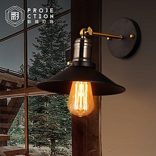 TYDXSD American retrò Loft industriale abiti a parete creativo lampada lampada al posto letto camera da letto con balcone bar parete lampada da tavolo