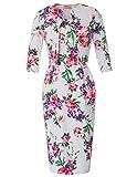 Belle Poque Rockabilly Pencil Kleid Damen festlich 2 Stücke Kleid Knielang elegant Bodycon etuikleid Größe M BP749-2