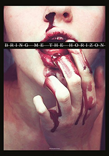 Heart Rock Licensed Bandiera Bring Me The Horizon - Blood Lust, Tessuto, Multicolore, 110X75X0,1 cm